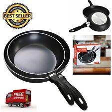 "2Pcs Aluminum Frying Pan Set Oven Safe Nonstick Kitchen Cookware 8"" and 10"""