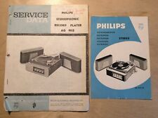 Vintage Philips AG 9115 Service Data Manual & Operating Instructions