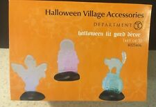 Dept 56 HALLOWEEN Lit Yard Decor Lighted  4025406 Ghost Skull Cat Tombstone NEW