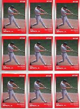 Cal Ripken 1990 Star Company 10-card Baltimore Orioles Orange PROMO CARD Lot