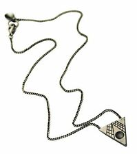 Handmade Oxidized Silver Plated Trendy Simple Aztec Style Layer Pendant Necklace