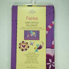Les fées facile stitch Oreiller Kit Panneau 100% coton