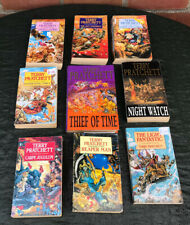 Terry Pratchett Books x 9 Paperback Book Light Fantastic Thief Of Time Reaper