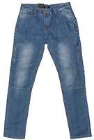 Mens Chisel Jeans RJC  Biker Style Washed Denim Slim Leg Jeans  - CJ-2894LT Sale