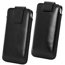 Echt Leder Universal 4,7 - 5,7 Zoll Smartphone Handy Tasche Case Hülle Etui