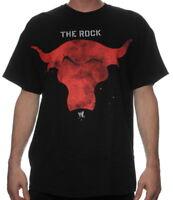 BRAND NEW MENS THE ROCK RED BRAHMA BULL WWE BLACK T-SHIRT