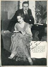 BEN LYON SILENT MOVIE LEADING MAN IN HELLS ANGELS SIGNED PHOTO CARD AUTOGRAPH