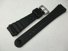 Seiko Genuine 19mm Rubber Band DAL3BP Black Urethane Strap for Vintage Diver