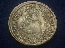 10 Kreuzer  1629 Hall  Erzherzog Leopold V. – Habsburg Silber   W/20/1000