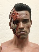 Hot Toys MMS 238 T800 Head Terminator Battle Damaged Ver Arnold Schwarzenegger