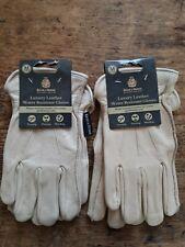 2 x Kent & Stowe  Luxury Leather Gardening Gloves Size M Ladies