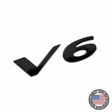 For Jaguar V6 Fender Liftgate Car Suv Logo Emblem Badge Nameplate R Sport Black