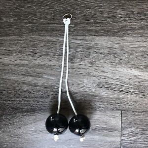 Clackers click clacks knockers Solid Black  Noise Maker Toy Great Condition