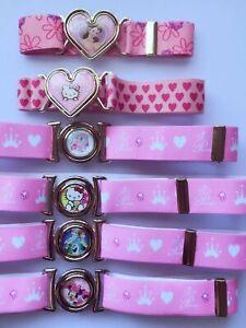 New Girls Kids Children Casual Dress Skirt Pants Elastic band Buckle Pink Belt