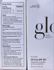 Glo Skin Beauty Oil Free SPF 40+ Sun Protection 1.7oz EXP 8/2022 Glotherapeutics