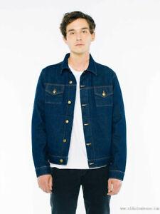 American Apparel Dark Wash Denim Jacket, 2X-Small, X-Small, Large - RSAND401W