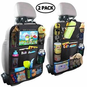 accesorios para autos novedades carro Organizador del asiento trasero coche 2uds