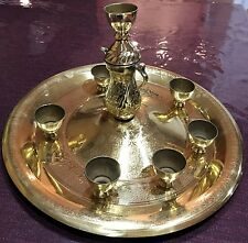 (defect) Candle tray belly dance candelabra, handmade,Gold, Quick&free to USA