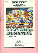 BUENOS AIRES-PERCUSSION MARCHING BAND SCORE-ANDREW LLOYD WEBBER=EVITA MUSIC BOOK
