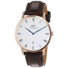 Daniel Wellington 1103DW Dapper Sheffield Brown Leather Rose Gold 38mm Watch