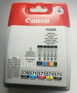 Original Canon PGI570 CLI571 Ink Cartridge Combo Pack For PIXMA MG5750 Printer