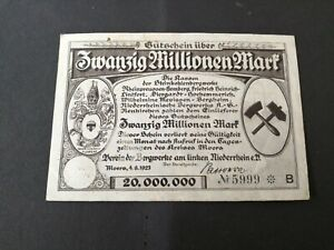 Germany Moers 20 Million Mark 1923