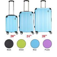 "Hard Shell Suitcase TSA Lock Hand Travel Luggage 4 Wheel Trolley Case 20 24 28"""