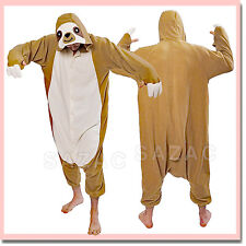 Sazac Animal Kigurumi Fleece Pajama Costume Sloth 2784 Adult From Japan
