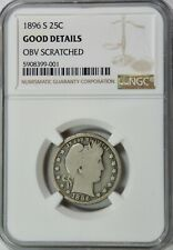 1896-S Barber Quarter – NGC – Good – Very Pretty Coin