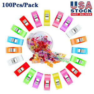 100PCS Clover Wonder Clips Clamp for Craft Quilting Sewing Knitting Tools Now