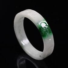 Jade Gems Bangle Bracelet j1949 60mm Chinese Hand-carved White Green Jadeite