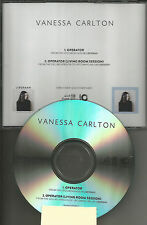VANESSA CARLTON Operator w/ RARE LIVE SESSION trk PROMO CD Single MINT 2015 USA