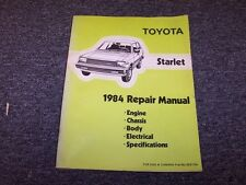 1984 Toyota Starlet Hatchback Original Workshop Shop Service Repair Manual Book