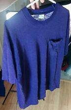 Vintage Distressed Thin Blank 80s 90s Bvd Purple Pocket T Shirt