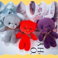 1XMini Plush Conjoined Bear Toys Pendant PP Cotton Soft Stuffed Bear Toy Doll