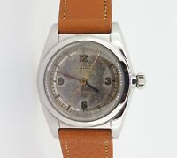 .RARE 1939 ROLEX OYSTER SCIENTIFIC DIAL STEEL BUBBLE BACK WRIST WATCH EARLY 2940