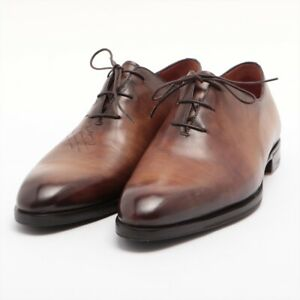 Berluti Calligraphy Leather Leather Shoes 9 1/2 Men's Brown