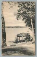 "Lake Sunapee ""Restful Spot"" Blodgett's Landing NH Vintage Postcard 1938"