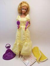 Vintage 1981 Magic Curl TNT Barbie Doll Yellow Dress Bath Towel WIPES purple