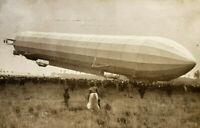 Alte historische Fotokarte Nürnberg, 1910, Zeppelin Landung, gelaufen gestempelt