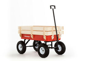 Pull wagon - original Retrowagen Improved design and features - flyer cart radio