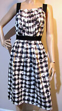 VERONIKA MAINE size 10 exclusive print 100% cotton a-line blurred check DRESS