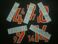 KIT NOMI+NUMERI UFFICIALI HOLLAND AWAY WC 1998 OFFICIAL NAMESET REPLICA SIZE