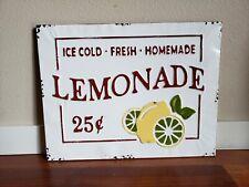 LEMONADE Farmhouse decor enamel vintage sign