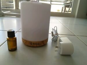 BOSISTO'S ULTRASONIC AROMATHERAPY DIFFUSER WITH FREE LEMON PURE ESSENTIAL