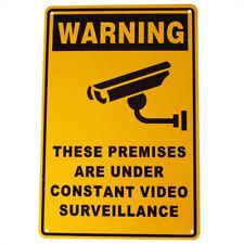 SECURITY SIGN WARNING CAMERA CCTV 200x300mm Metal UNDER24H SURVEILLANCE SIGNAGE