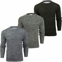 Mens Fashion Jumper Long Sleeved Fleck Crew Neck by Xact
