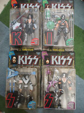 KISS ULTRA ACTION FIGURES 4pc lot (1997) McFarlane MIB Simmons Frehley Criss +