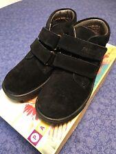 Pablosky Black Velours School Shoes Size UK 11.5 Euro 30 BNIB
