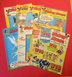 Walt Disney's Mickey Mouse 8 comics From 1977 Bundle Lot 4